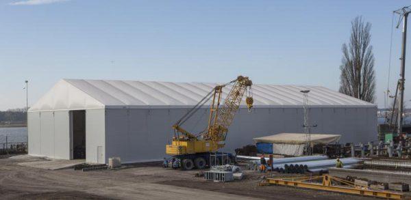hala przemysłowa dach pompowany