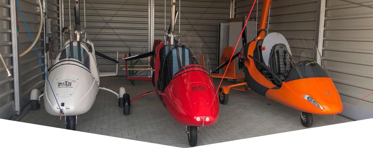 hangar dla wiatrakowca
