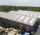 hala magazynowa dach pompowany