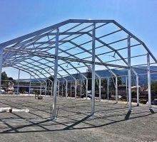 hala namiotowa konstrukcja mansardowa