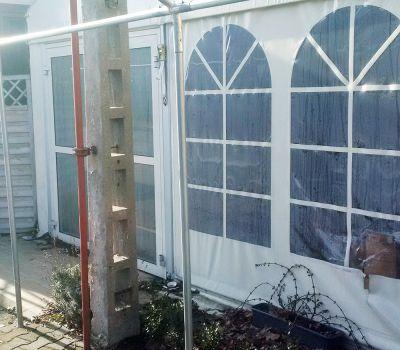 hala namiotowa okno